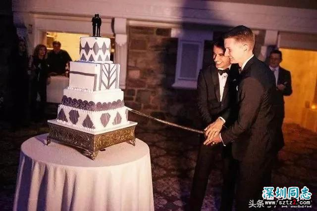 美国西点军校举行同性婚礼