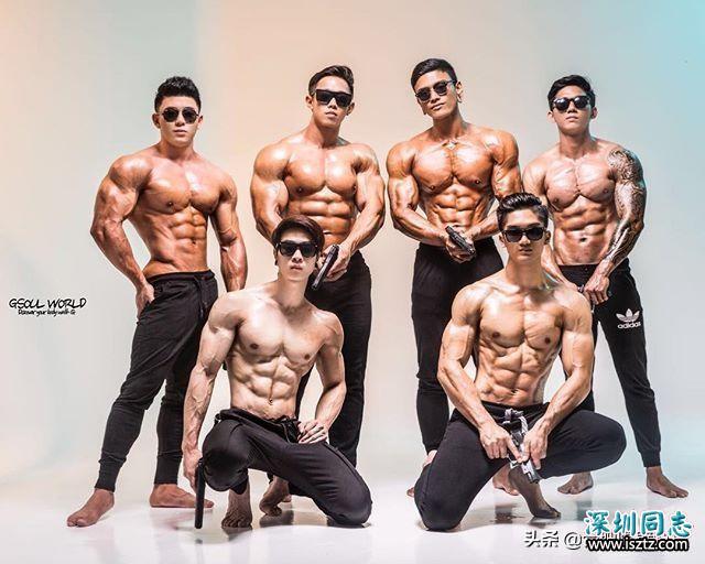 健美产业,新加坡涌现出很多肌肉猛男,个子不高肌肉很大