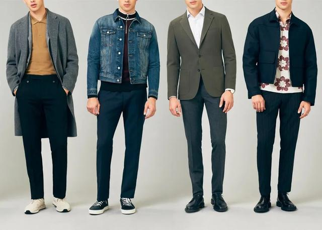 穿西裤一直搭配皮鞋?换运动鞋试试,造型时髦出众